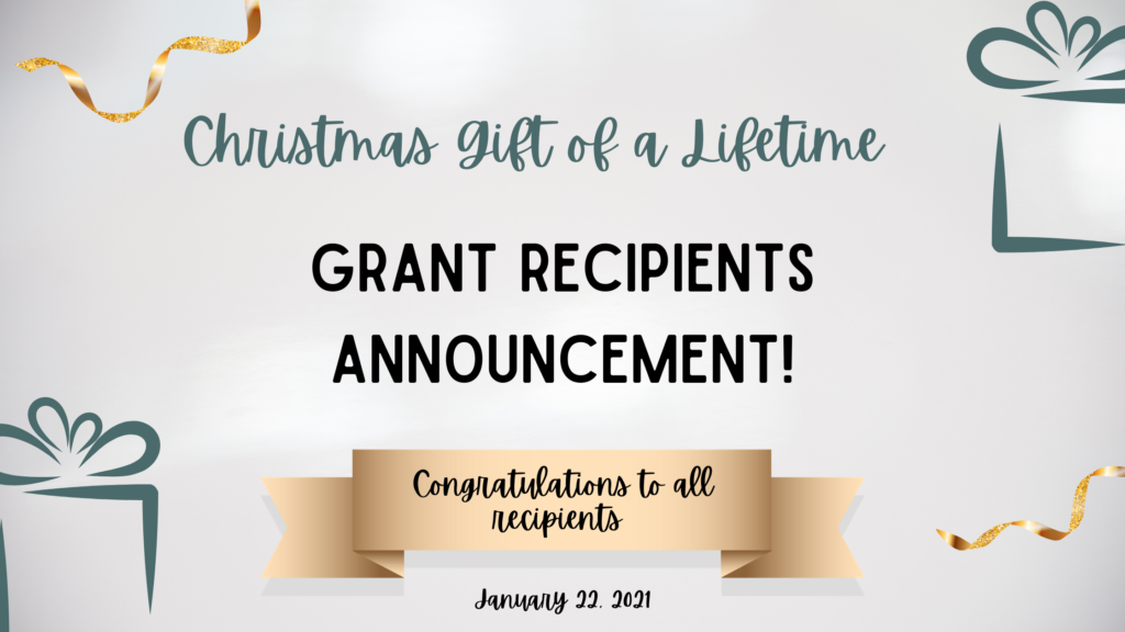 Christmas Assistance 2021 2020 Christmas Gift Of A Lifetime Grant Recipients Announcement Gift Of Parenthood